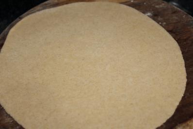 Carrot tofu paratha