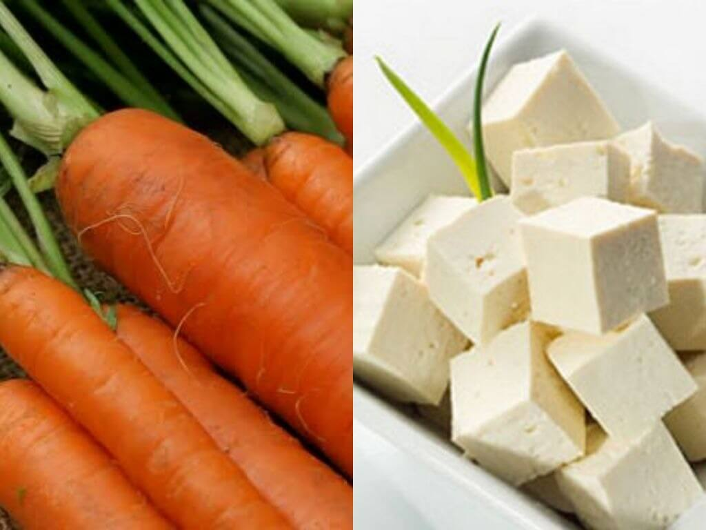 Carrot-Tofu Paratha